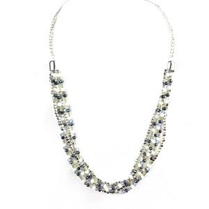 New Multilayered Beaded Scoop Necklace
